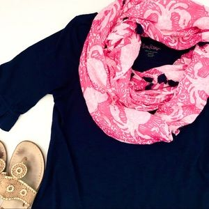 Lilly Pulitzer bundle - Pima cotton dress + scarf